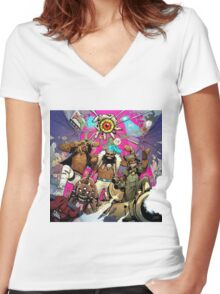 Flatbush Zombies Women's Fitted V-Neck T-Shirt