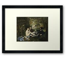 Edouard Manet - Luncheon on the Grass 1863 , French  Impressionism ,  Landscape  Framed Print
