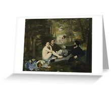 Edouard Manet - Luncheon on the Grass 1863 , French  Impressionism ,  Landscape  Greeting Card