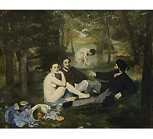 Edouard Manet - Luncheon on the Grass 1863 , French  Impressionism ,  Landscape  Photographic Print