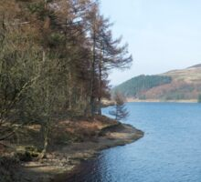 View north from the West bank of the Derwent Reservoir Sticker