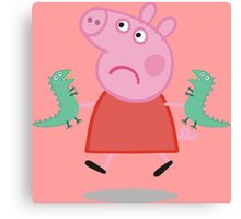Peppa Pig - Those are not mines Canvas Print