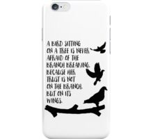 A bird sitting on a tree iPhone Case/Skin