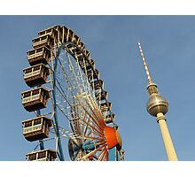 Ferris Wheel with Berlin TV Tower, Alex, Germany  Photographic Print