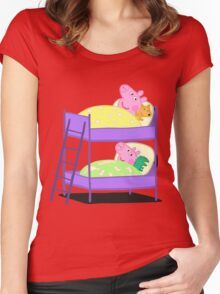 Peppa Pig Bed Time Women's Fitted Scoop T-Shirt