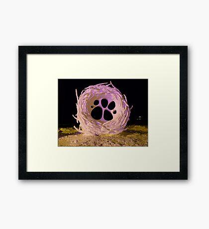 Nest Snow Sculpture Framed Print