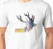 Abstract colorful Antler painting Unisex T-Shirt