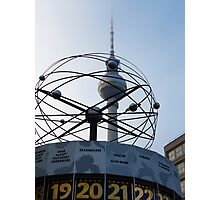 Berlin, World Time Clock with TV Tower Photographic Print