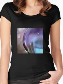 Crystal Amethyst  Women's Fitted Scoop T-Shirt