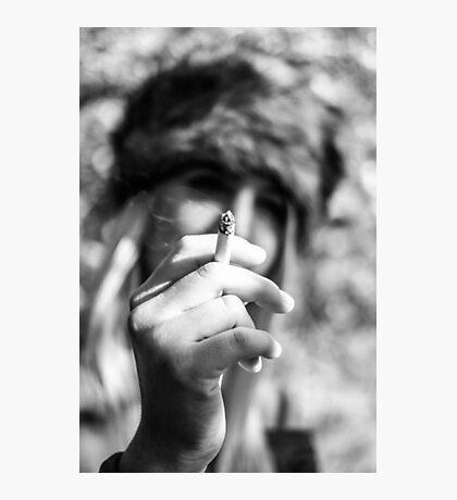 The Smoking Girl Photographic Print