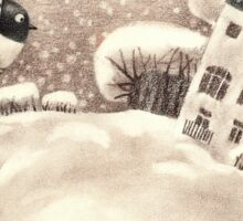 Cute Cartoon Flying Penguin Sticker