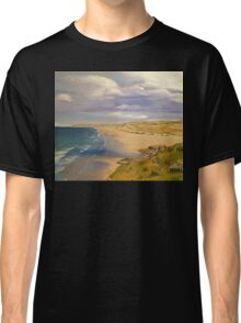 Perranporth Beach Painting Classic T-Shirt