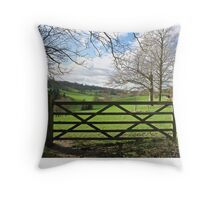 England's Green and Pleasant Land Throw Pillow