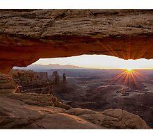 Mesa Arch Sunrise - Canyonlands National Park - Moab Utah Photographic Print