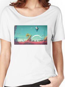 No Man's Sky Landscape Design Women's Relaxed Fit T-Shirt