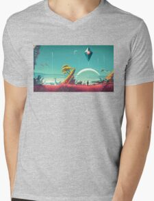 No Man's Sky Landscape Design Mens V-Neck T-Shirt