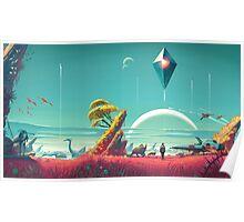 No Man's Sky Landscape Design Poster