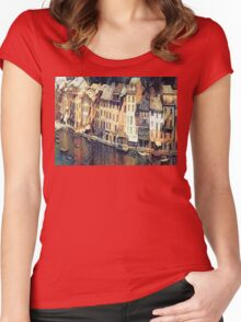 Italian Riviera Women's Fitted Scoop T-Shirt