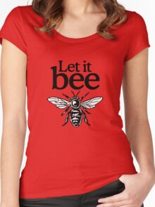 Let It Bee Beekeeper Quote Design Women's Fitted Scoop T-Shirt