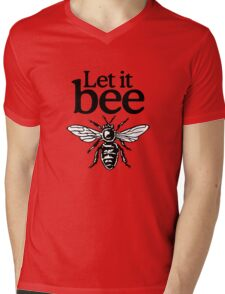 Let It Bee Beekeeper Quote Design Mens V-Neck T-Shirt