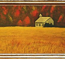"""Mountain Autumn"" ... with a canvas and framed presentation, for prints by © Bob Hall"