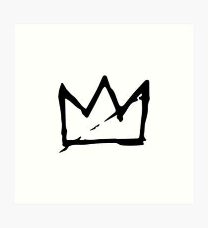 Basquiat Crown Art Print