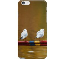 Birds Balancing on the Line - Nature Photography iPhone Case/Skin