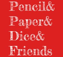 Pencil, Paper, Dice, Friends One Piece - Short Sleeve