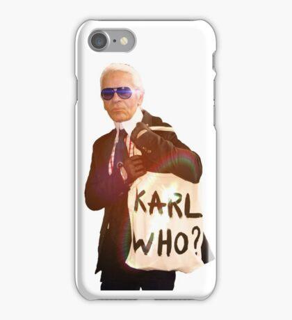 Karl Lagerfeld- Karl who iPhone Case/Skin
