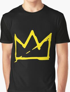 Yellow BASQUIAT CROWN Graphic T-Shirt