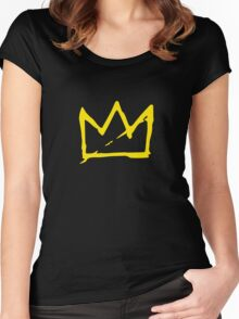 Yellow BASQUIAT CROWN Women's Fitted Scoop T-Shirt