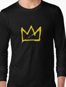 Yellow BASQUIAT CROWN Long Sleeve T-Shirt