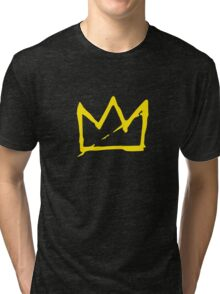 Yellow BASQUIAT CROWN Tri-blend T-Shirt