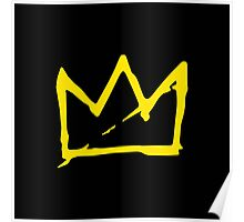 Yellow BASQUIAT CROWN Poster