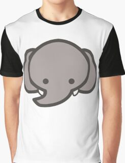 Cute Baby Elephant Head/Face Graphic T-Shirt
