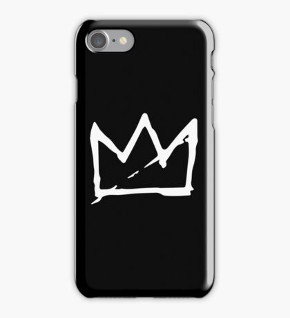 White Basquiat crown iPhone Case/Skin