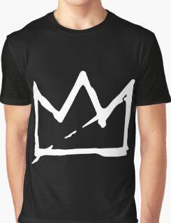 White Basquiat crown Graphic T-Shirt