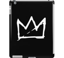 White Basquiat crown iPad Case/Skin