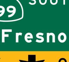 Fresno, CA Road Sign, USA Sticker