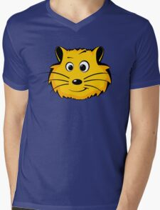 Comic Hamster Head/Face Mens V-Neck T-Shirt