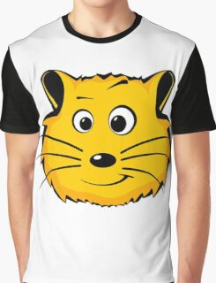 Comic Hamster Head/Face Graphic T-Shirt