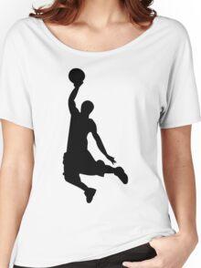 Basketball Player, Slam Dunk Silhouette Women's Relaxed Fit T-Shirt