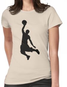 Basketball Player, Slam Dunk Silhouette Womens Fitted T-Shirt