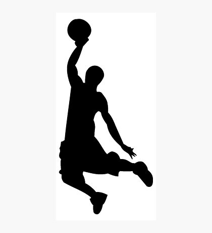 Basketball Player, Slam Dunk Silhouette Photographic Print