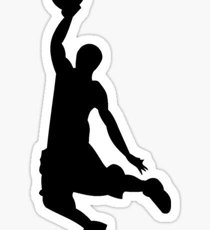 Basketball Player, Slam Dunk Silhouette Sticker