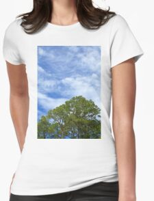 Sky and Trees Womens Fitted T-Shirt