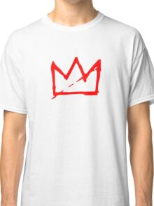 Red on white Basquiat Crown Classic T-Shirt