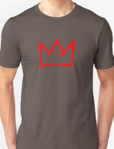 Red on white Basquiat Crown Unisex T-Shirt