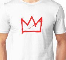 Red on white Basquiat Crown Unisex T-Shirt
