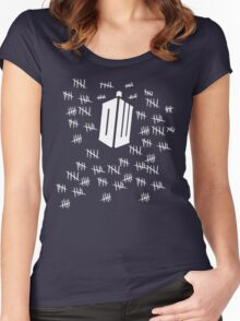 Doctor Who British Sci Fi Tardis Women's Fitted Scoop T-Shirt